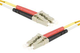 Jarretière optique duplex HD multi OM1 62,5/125 LC-UPC/LC-UPC orange - 5 m