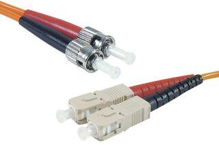 Jarretière optique duplex HD multi OM2 50/125 ST-UPC/SC-UPC orange - 3 m
