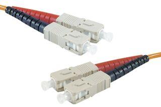 Jarretière optique duplex HD multi OM2 50/125 SC-UPC/SC-UPC orange - 10 m