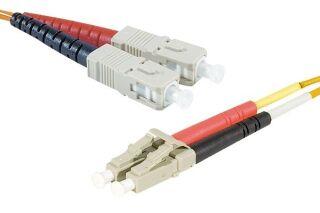 Jarretière optique duplex HD multi OM2 50/125 SC-UPC/LC-UPC orange - 2 m