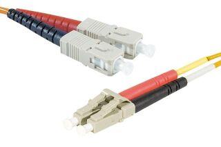 Jarretière optique duplex HD multi OM1 62,5/125 SC-UPC/LC-UPC orange - 3 m