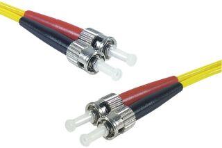 Jarretière optique duplex HD mono OS2 9/125 ST-UPC/ST-UPC jaune - 10 m