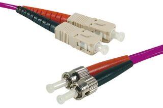 Jarretière optique duplex HD multi OM4 50/125 ST-UPC/SC-UPC erika - 10 m