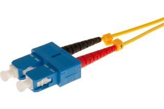 Jarretière optique duplex HD mono OS2 9/125 SC-UPC/SC-UPC jaune - 10 m