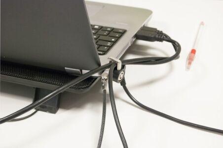 Antivol K-Lock pour pc portable avec passe câble securisé