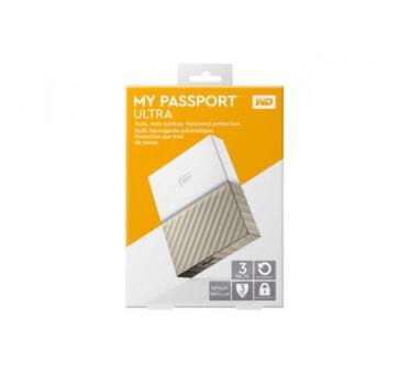 DD EXT. 2.5'' WD MyPassport Ultra USB 3.0 - 3To Blanc/Or