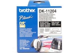 Etiquette / Papier thermique BROTHER DK-11204