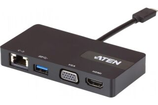 Aten UH3232 mini dock Type C vers HDMI ou VGA LAN USB 3.0