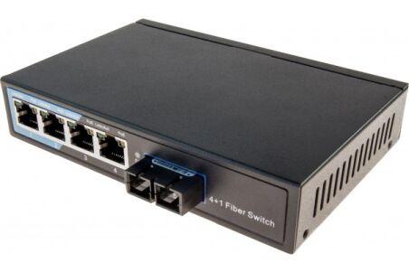switch 4 ports 10/100 + fibre 100FX multimode sc 2KM