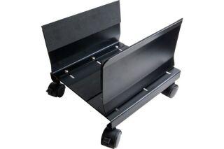 Support d'unité centrale à roulettes noir (métal)