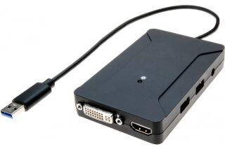Carte graphique USB 3.0 HDMI + DVI double écran + Hub 2 port