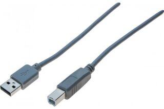 Cordon USB 2.0 A / B gris  - 1,0 m