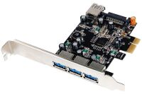 Carte contrôleur USB 3.0 PCI-Express 3 ports +1 int. +Low Pr