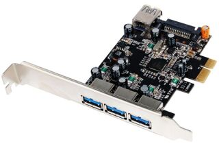 Carte contrôleur USB 3.0 PCI-Express 3 ports +1 int. +Low Pr