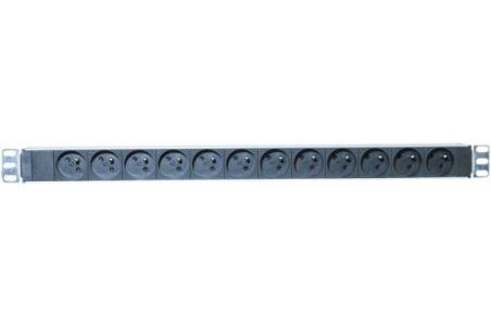 Multiprise rackable 19'' verticale 0 U 12 prises