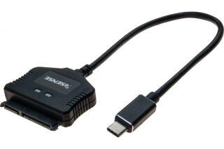 """Adaptateur USB Type-C  SATA autoalimenté pour SSD / HDD 2,5"""""""