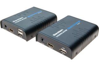 DELXAN Déport KVM HDMI / USB sur IP Ethernet Gigabit