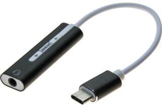 Carte son USB-C sortie-entrée Audio Stéréo Uni-Jack 3.5 mm