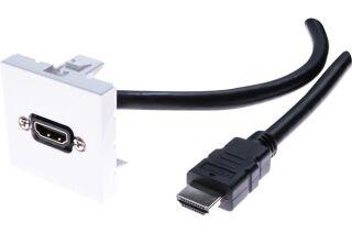 Plastron 45 x 45 avec cordon HDMI coudé - 15m
