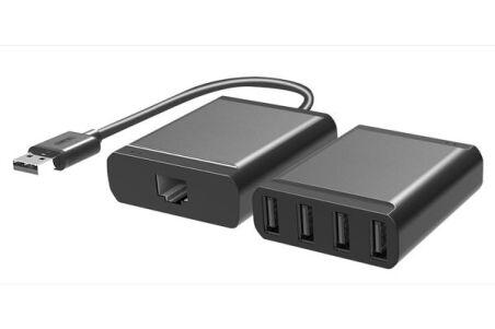 Extendeur USB 2.0 sur Cat.5 60m avec Hub 4 ports