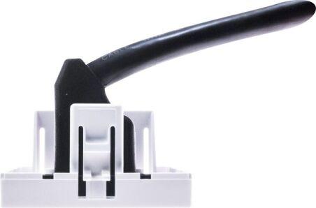 Plastron 45 x 45 avec câble HDMI coudé - 20 cm