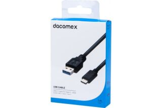 DACOMEX Cordon USB 3.1 Gen1 Type-A - Type-C - 1 m