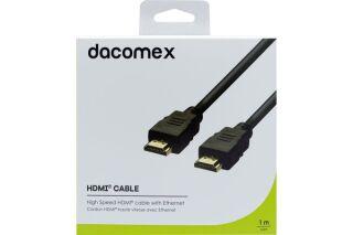 DACOMEX Cordon HDMI haute vitesse avec Ethernet - 1 m