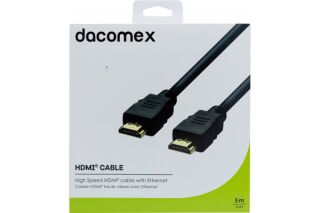 DACOMEX Cordon HDMI haute vitesse avec Ethernet - 5 m