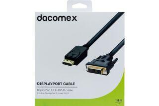 DACOMEX Cordon DisplayPort 1.1 vers DVI-D - 1,8 m