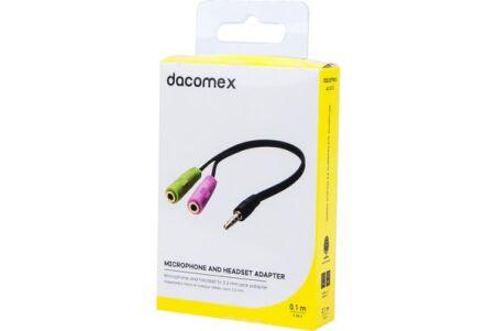DACOMEX Adaptateur micro et casque stéréo jack 3.5 mm