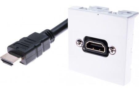 Plastron 45 x 45 avec cordon HDMI coudé - 5 m