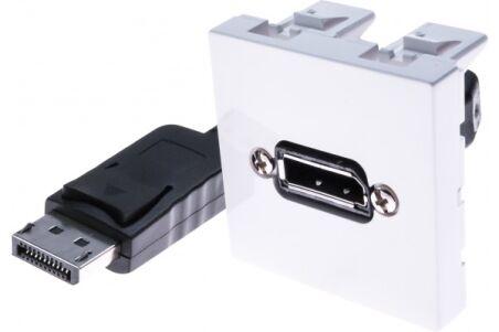 Plastron 45 x 45 avec câble DisplayPort coudé - 5m