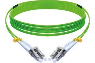 Jarretière optique duplex HD multi OM5 50/125 LC-UPC/LC-UPC vert - 10 m