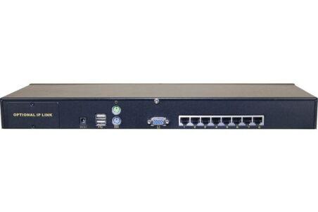 KVM CAT.5 8 PORTS VGA/USB AVEC 8 MODULES RJ45 60m max