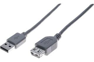 Rallonge éco USB 2.0 A / A grise - 5,0 m