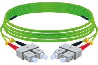 Jarretière optique duplex HD multi OM5 50/125 SC-UPC/SC-UPC vert - 2 m