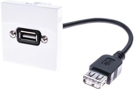 Plastron 45 x 45 avec câble USB coudé - 10cm