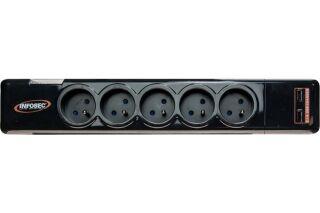 INFOSEC Multiprise S5 USB NEO parafoudre 5 prises