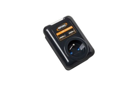 INFOSEC Prise S1 USB NEO parafoudre 1 prise
