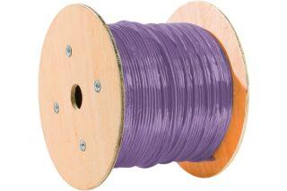 câble monobrin F/FTP CAT6A violet LS0H RPC Dca - 500 m