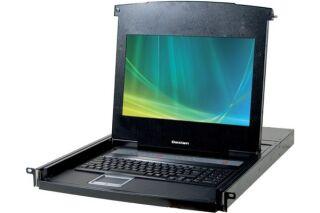 "CONSOLE LCD 18,5"" HD 8P KVM VGA/USB +Cable"