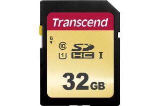 TRANSCEND Carte SDHC UHSI 500S Class 10 32 Go