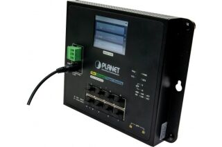 PLANET WGS-5225-8T2SV Switch industriel plat avec LCD 8 ports Gigabit & Fibre