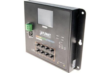 PLANET WGS-5225-8P2SV Switch industriel plat avec LCD 8p Gigabit PoE+ & Fibre