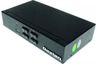 KVM switch 4 ports HDMI 4K / USB / Audio + câbles