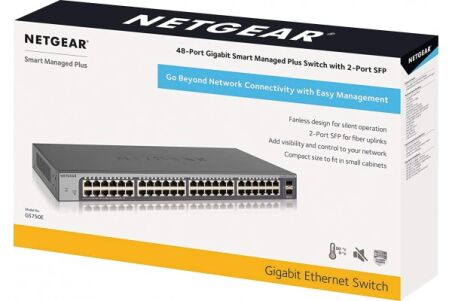 NETGEAR GS750E SWITCH 48 P GIGABIT WEB  MANAGEABLE & 2 SFP