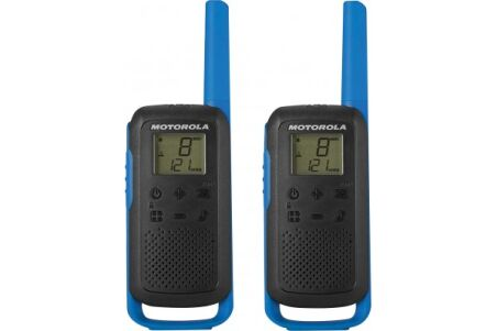 Motorola TLKR T62 2 Talkies Walkies 8 KMS bleu