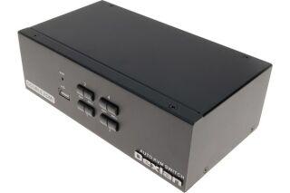 KVM 4 PORTS DOUBLE ECRAN HDMI 4K / USB 2.0 + câbles