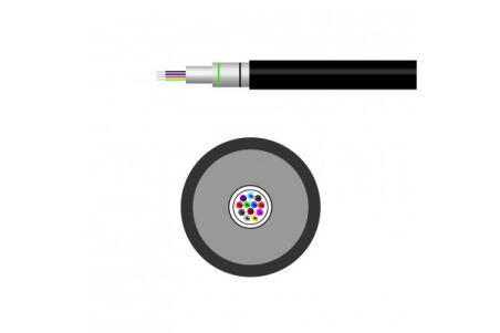 Câble optique universel 8 fibres multimode OM2 LSOH CPR Dca