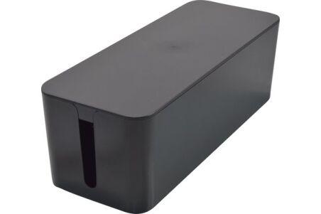 Grande boîte cache-multiprise - Noir